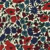 Liberty Poppy Daisy bleu canard et grenadine coloris N 20 x 137 cm