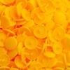 30 pressions KAM résine rondes taille 20 coloris jaune