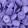 30 pressions KAM résine rondes taille 20 coloris lavande bleue