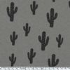 Cactus, poly/coton coloris caviar 20 x 140 cm