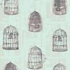 Tissu Wonderland Uncaged Words Mint 20 x 110 cm