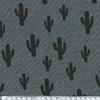 Cactus, jersey coton/elasthanne gris chiné 20 x 140 cm