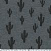 Cactus, molleton gris chiné 20 x 140 cm