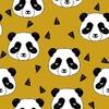 Jersey Panda coloris moutarde 20 x 160 cm