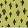 Cactus, poly/coton coloris fenouil 20 x 140 cm