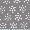 Jersey triangles blancs fond gris 20 x 140 cm