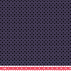 Tissu Première Etoile mini star encre noire coloris Prune 20 x 140 cm