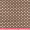 Tissu Première Etoile mini star coloris Noix 20 x 140 cm
