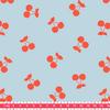 Cherries corail, poly/coton coloris glaçon 20 x 140 cm