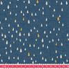 Pluie d'or, poly/coton denim 20 x 140 cm