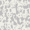 Jersey Pandalicious Pandalings Pod Shadow gris clair fond blanc 20 x 150 cm