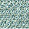 EXCLU Liberty Gabardine Stretch Eloise bleu vert 20 x 140 cm