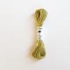 Echeveau de 5m de soie d'Alger vert anis coloris 2223