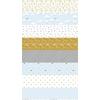 Tissu When skies are grey - frise bleu  20 x 110 cm