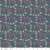 Tissu High adventure -  flèches fond bleu 20 x 110 cm