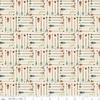 Tissu High adventure -  flèches fond crème 20 x 110 cm