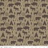 Tissu High adventure - animaux fond bois 20 x 110 cm
