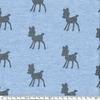 Molleton biches coloris marine pailleté fond bleu chiné 20 x 140 cm