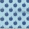 Jersey Pomme paillettes bleu 20 x 140 cm