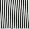 Tissu Gorjuss rayures noir et blanc cassé 20 x 110 cm
