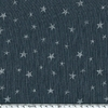 Lin lavé Constellation encre argent coloris anthracite 20 x 140 cm