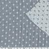 Tissu double gaze damier gris 20 x 135 cm