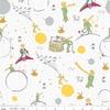 Tissu Le Petit Prince coloris blanc 20 x 110 cm