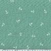 Tissu double gaze de coton ancre marine coloris vert 20 x 135 cm