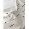 Sweat léger Sleepy Eyes Black coloris blanc cassé 20 x 140 cm
