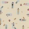 Tissu Amalfi Sun Girls nageuses coloris naturel 20 x 110 cm