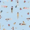 Tissu Amalfi Sun Girls nageuses coloris sky 20 x 110 cm