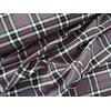 Tissu Tartan gris et rouge  20 x 140 cm
