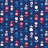 Tissu In Blue De Roos Donker 20 x 110 cm