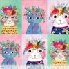 Tissu Floral Pets Chat Frida 30 x 110 cm
