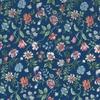 Viscose Liberty Tiger Lily fond marine coloris B 20 x 133 cm