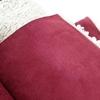 Suédine doublée fausse fourrure coloris grenat 20 x 140 cm