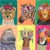 Tissu Junglemania Animaux 30 x 110 cm