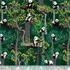 Tissu Panda Forest 20 x 110 cm