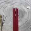 Zip amarante 40 cm invisible