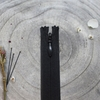 Zip black 40 cm invisible