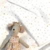 Tissu Première Etoile coloris Chantilly étoiles dorées 20 x 140 cm