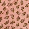 "Sweat léger ""French Terry"" Wild Garlic coloris rose floraison 20 x 150 cm"