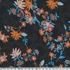 Crêpe texturé Ottawa fond noir 20 x 140 cm