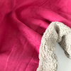 Suédine doublée fausse fourrure coloris rose bonbon 20 x 140 cm