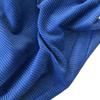 Velours grosses côtes bleu dur 20 x 140 cm