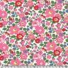 Lainage Liberty Lantana Betsy rose et vert coloris B 20 x 145 cm