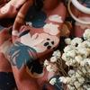Viscose plumetis Posie Chestnut 20 x 140 cm