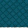 Double gaze matelassée coloris paon 20 x 130 cm