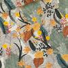 Viscose Tropic Flowers coloris chalk blue 20 x 140 cm