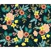 Tissu Rifle Paper Primavera fleurs fond foncé 20 x 110 cm